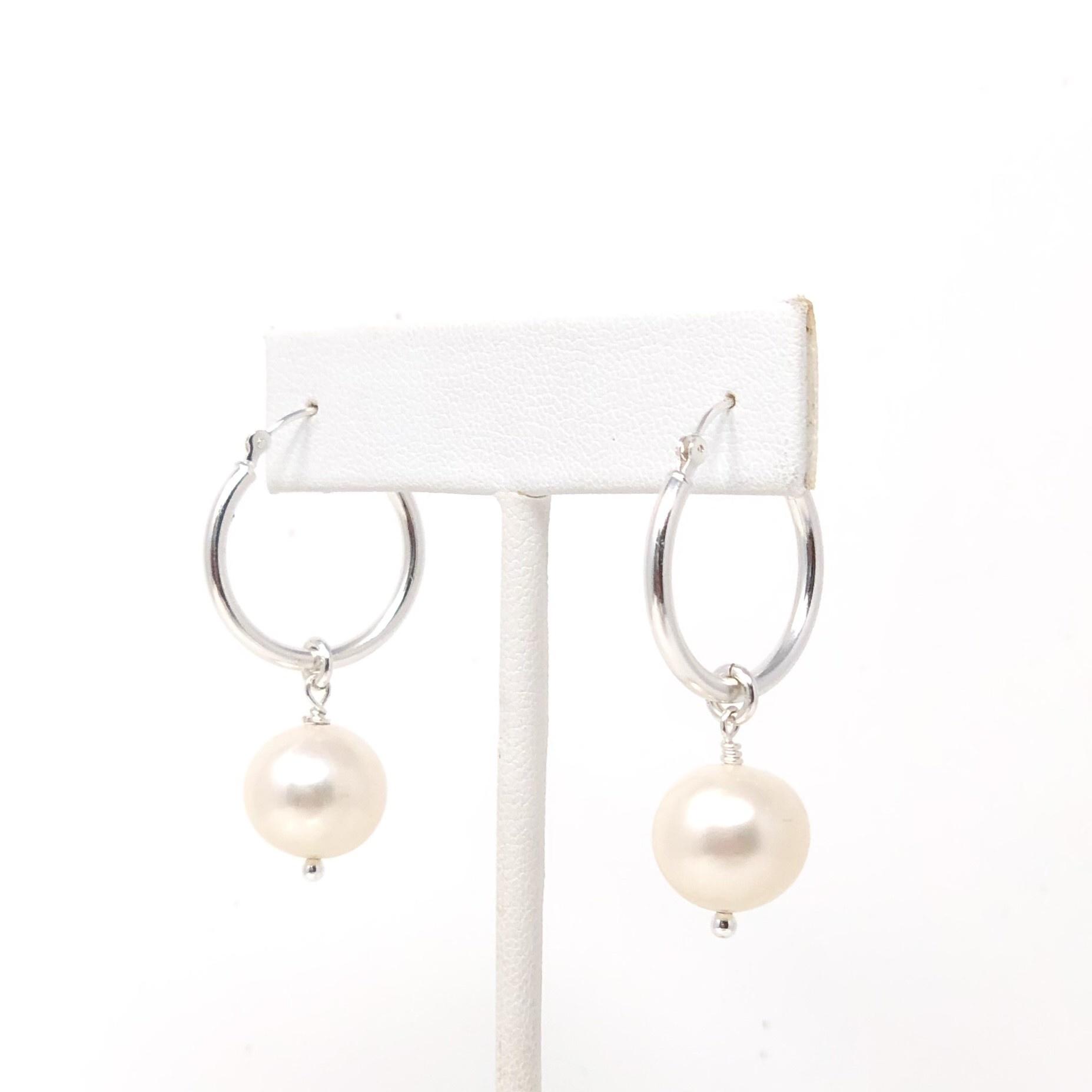 FWP Sterling Hoop Earrings