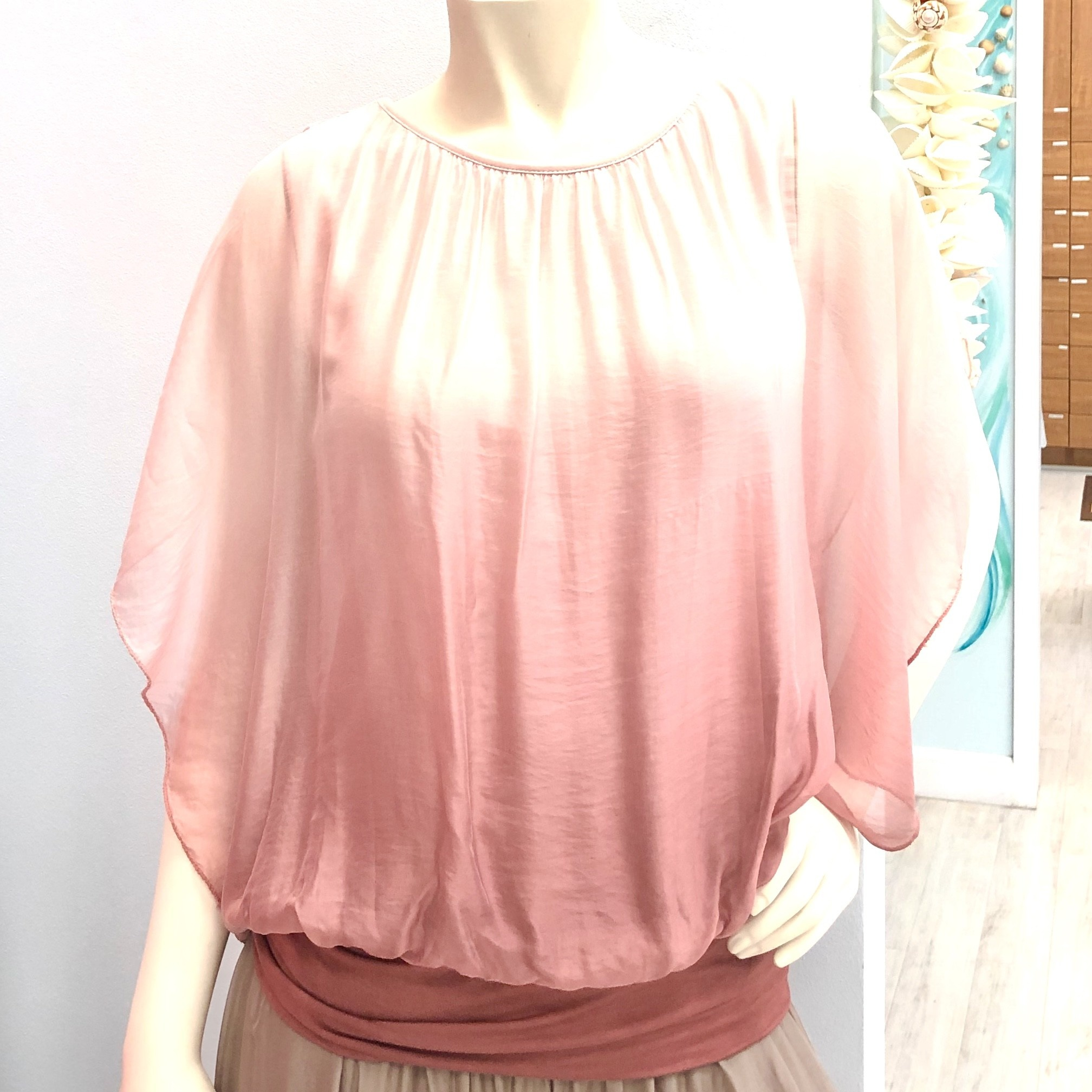 Dusty Rose Ombre Silk Top