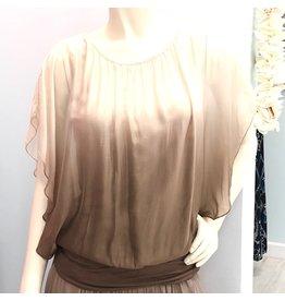 Khaki Ombre Silk Top
