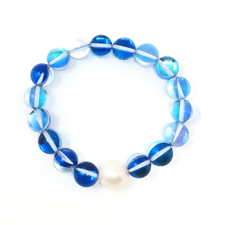 Blue Mermaid Quartz & FWP Bracelet