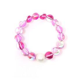 Pink Mermaid Quartz & FWP Bracelet