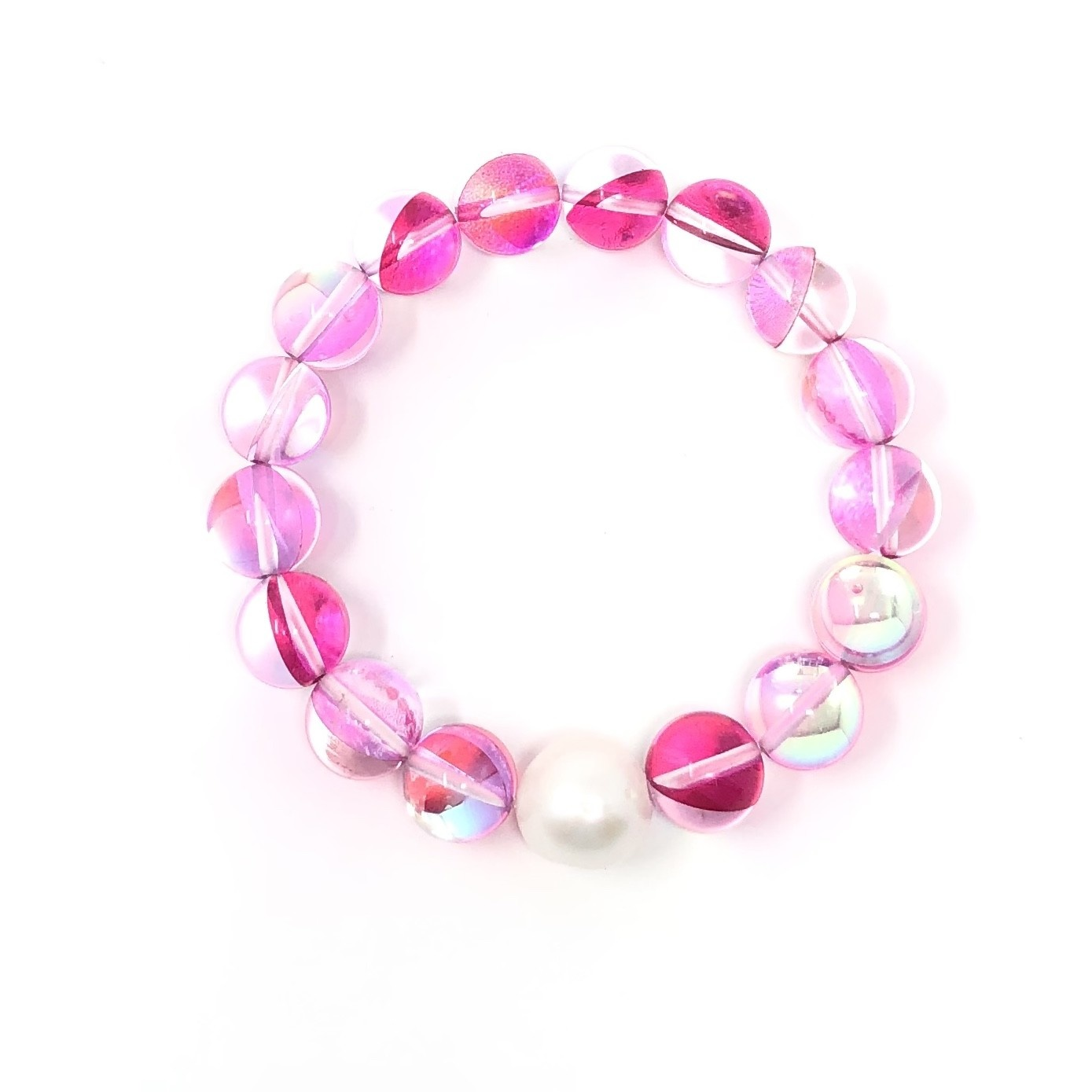Pink Mermaid Quartz & FWP Bracelet
