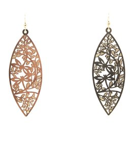 Gold Filigree Marquee Earrings