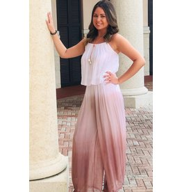 Blush Ombre Silk Jumpsuit
