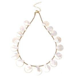 Teardrop MOP & Crystal Necklace