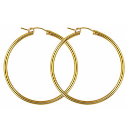 YTC Group 50mm Gold FIlled Hoop Earrings