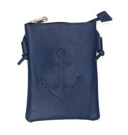 Boden Navy Anchor Crossbody