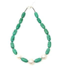 Turquoise (H) & Triple Baroque Pearl