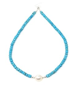 Turquoise & Akoya Pearl Necklace