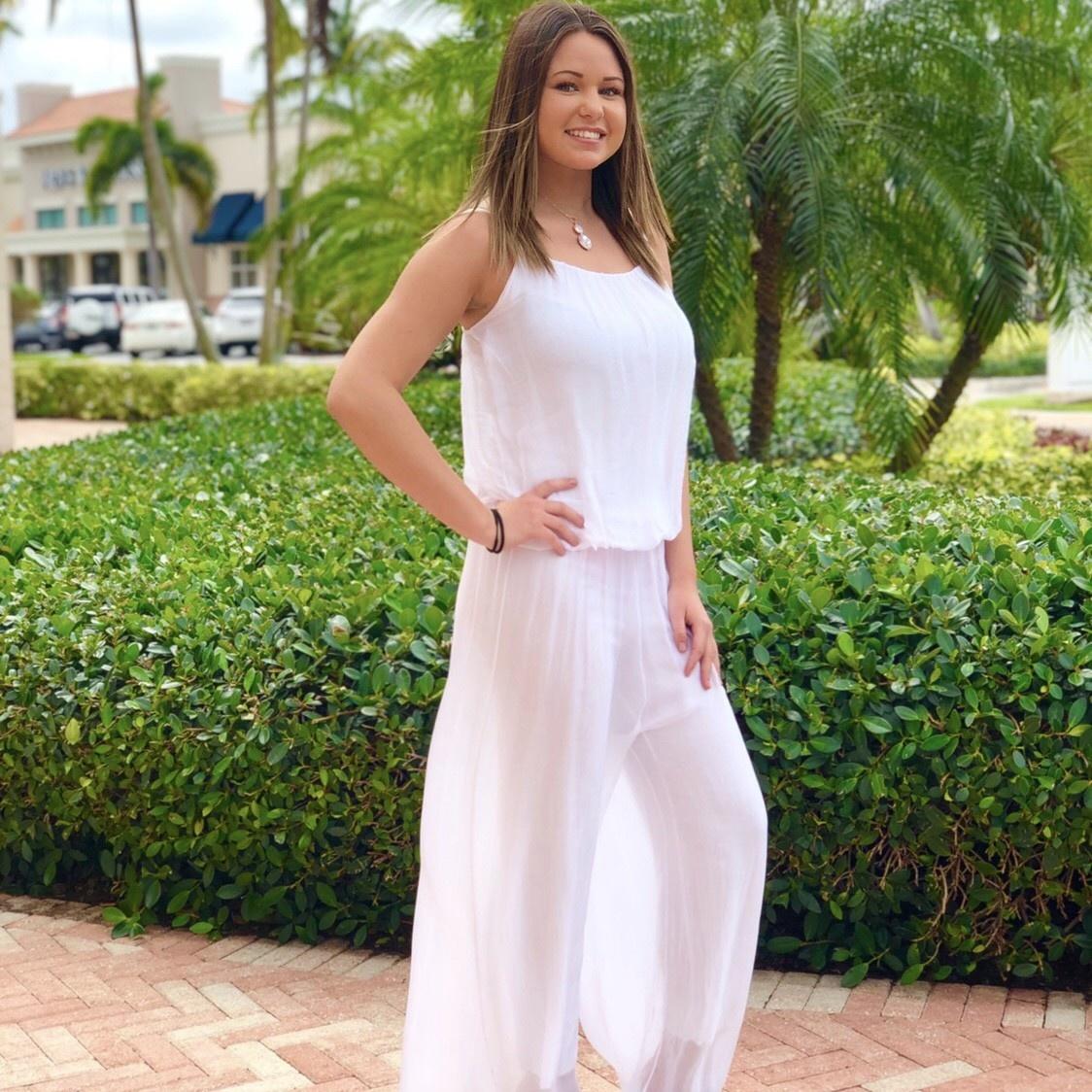 White Silk Jumpsuit