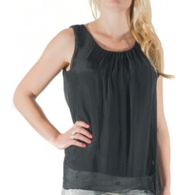 Black Silk Sleeveless Top