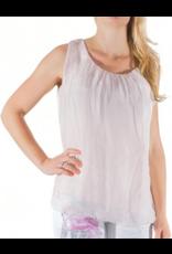 Blush Silk Sleeveless Top