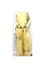 Lemon Paisley Silk Jumpsuit