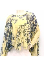 Lemon Paisley Boho Silk Top