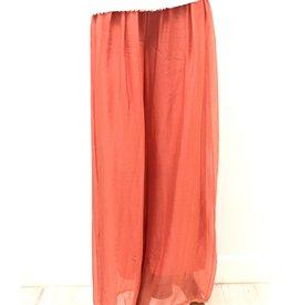 Melon Silk Lined Pants