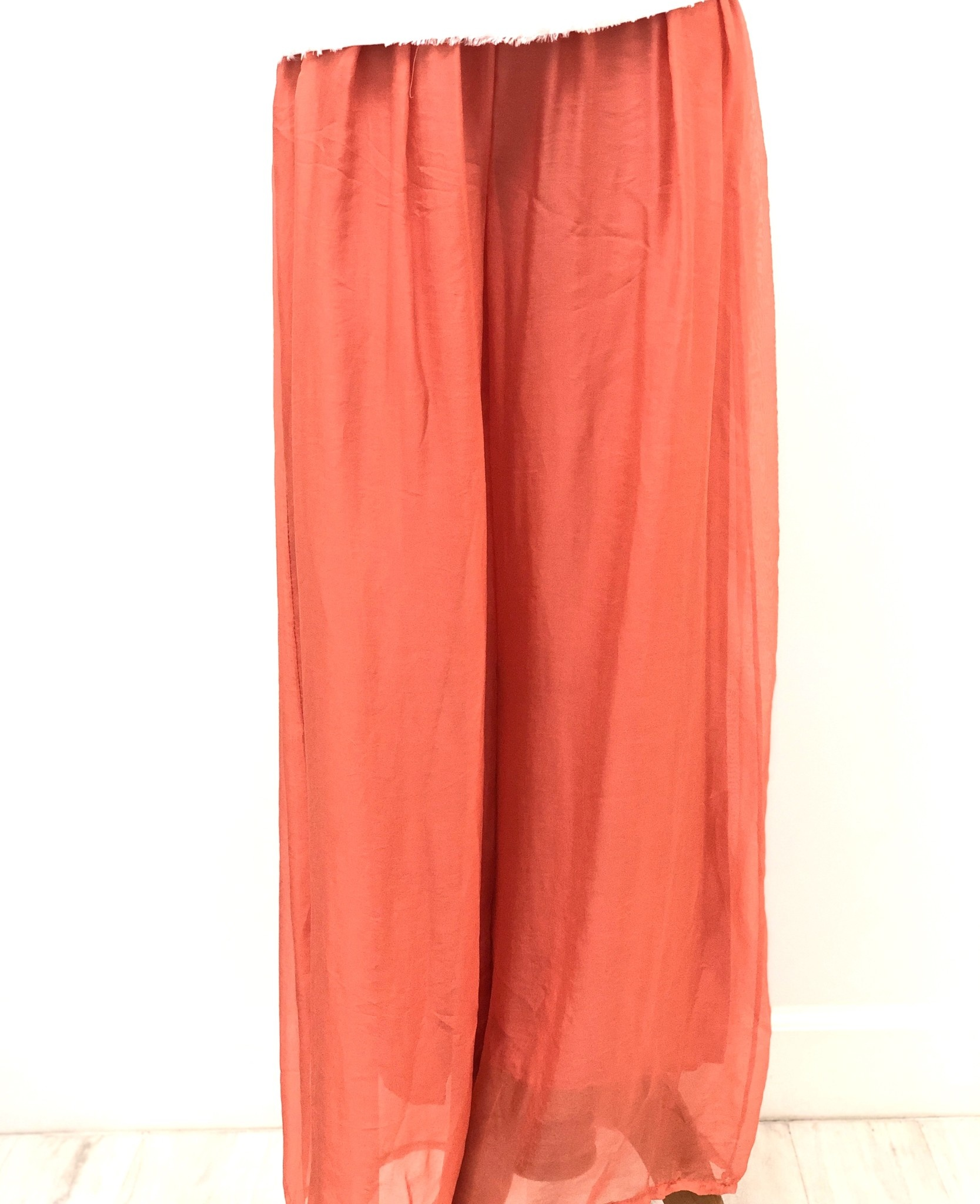 Melon Silk Lined Pants