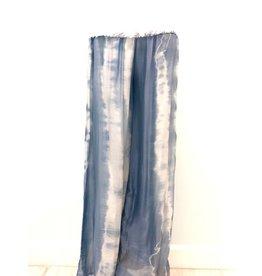 Light Blue Tie-Dye Silk Pants
