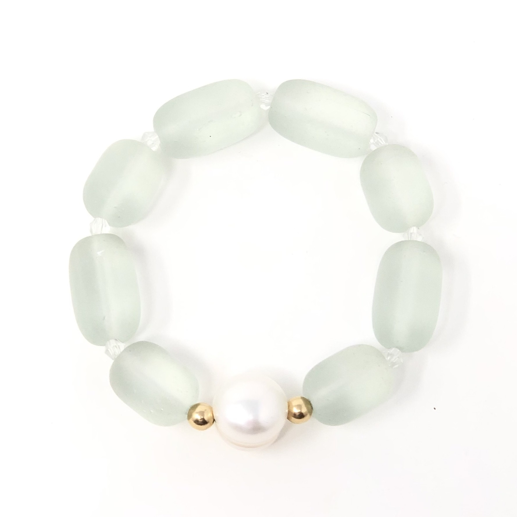 Sea Glass & FWP Bracelet
