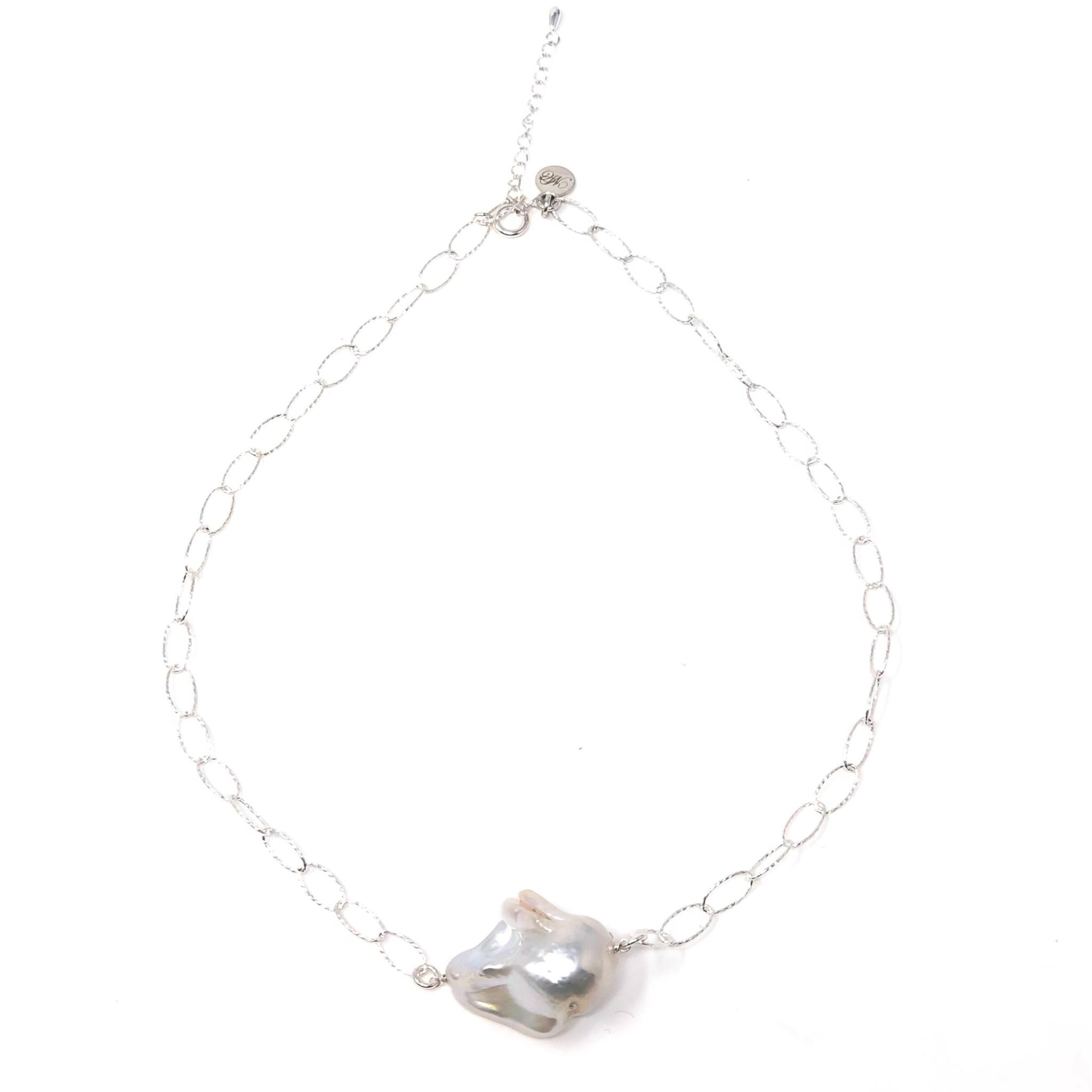 Large Baroque on Diamond Cut Chain