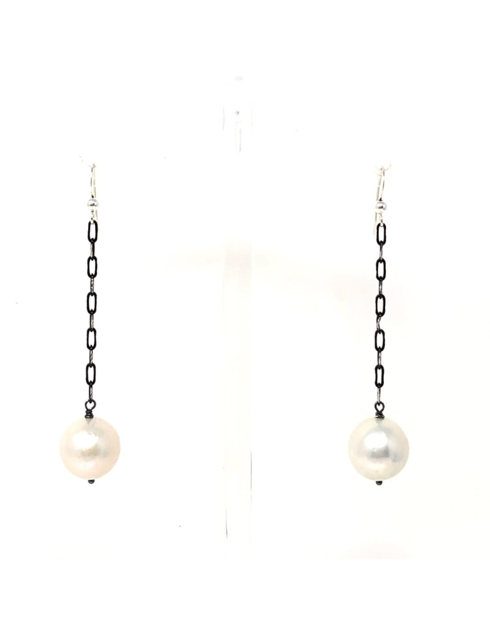 Oxidized/Silver Cut Earrings