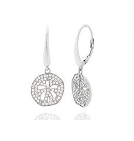 Pave Sand Dollar Earrings