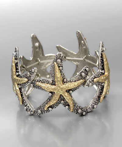 Golden Stella Gold/Silver Starfish Bracelet