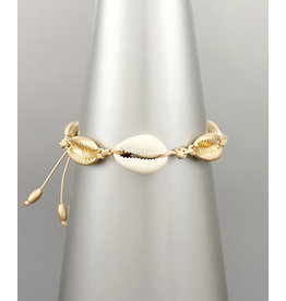 Golden Stella Gold/Nat Cowrie Bracelet