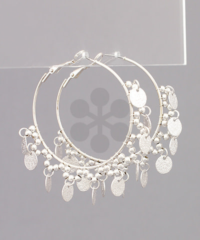 Golden Stella Beaded Hoop Earrings