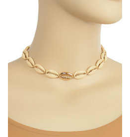 Golden Stella Nat/Gold Cowrie Choker
