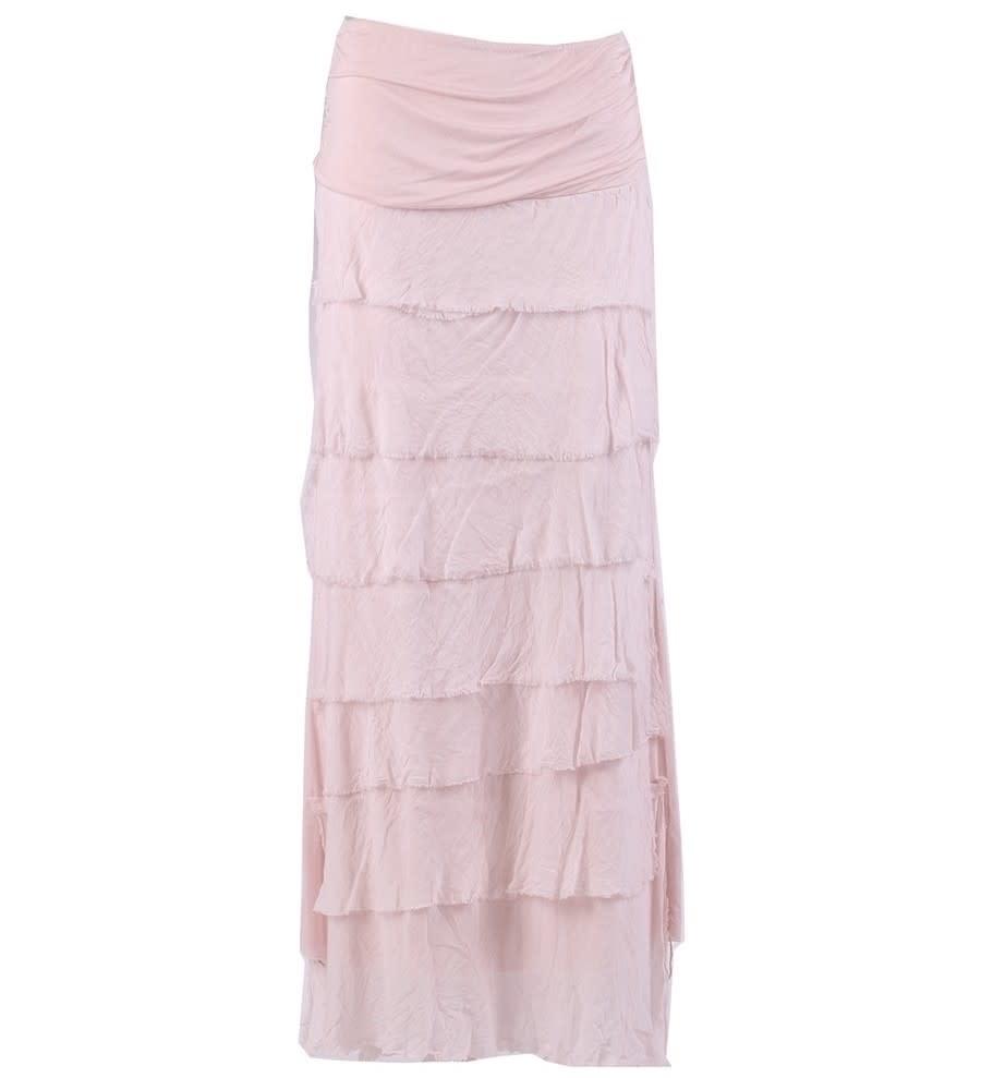 Ballet Pink Flutter Maxi Skirt