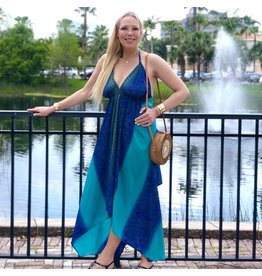 Turquoise Henna Dress