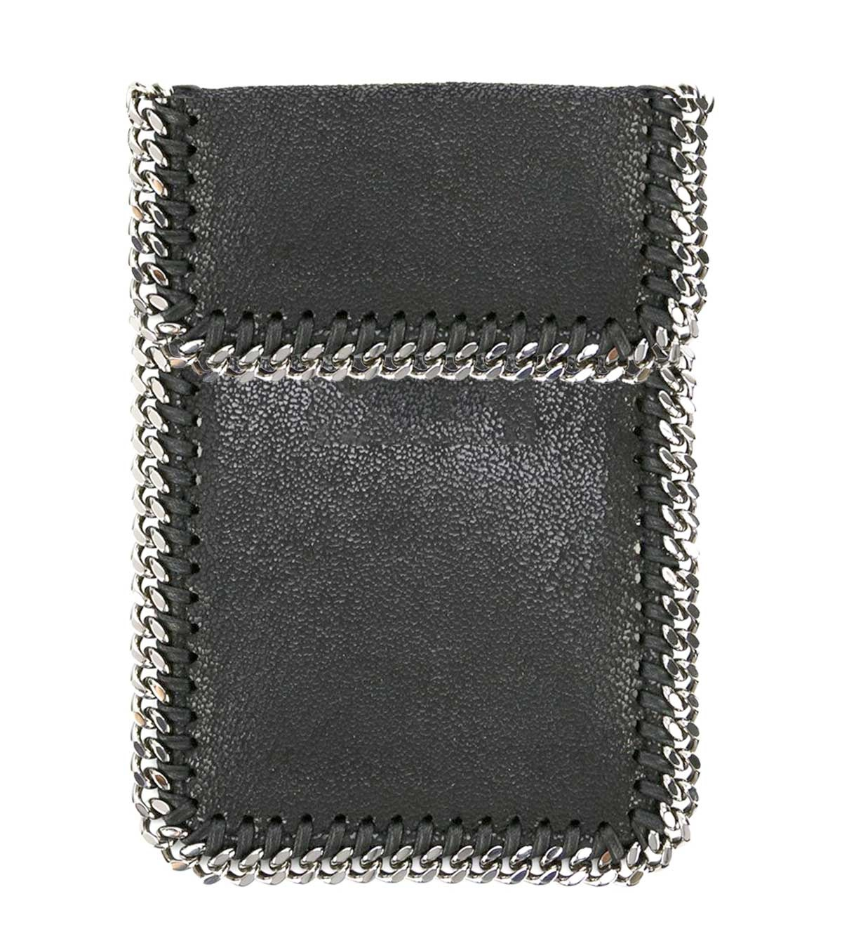 BC Blk Fold Over Chain Phone Pouch
