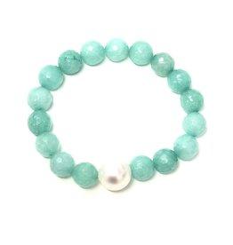 Aqua Agate & FWP Bracelet