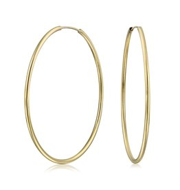 YTC Group 80mm Gold FIlled Tube Hoop Earrings