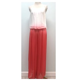 Coral Ombre Silk Jumpsuit
