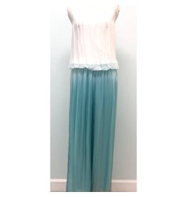 Turquoise Ombre Silk Jumpsuit