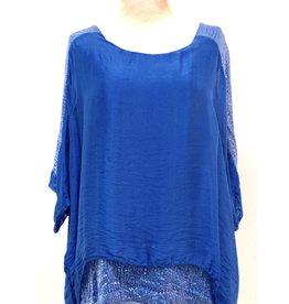 Royal Silk Sequin Sleeve/Layer Top