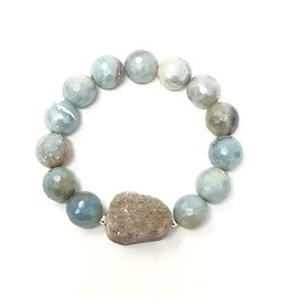 Coated Amazonite & Druzy Agate