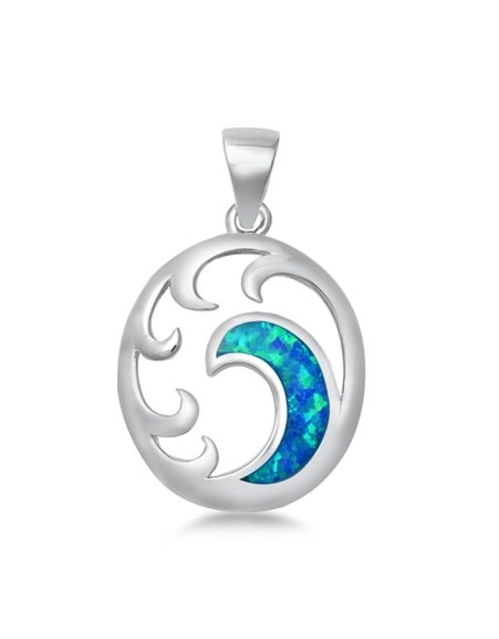 Opal Wave Pendant
