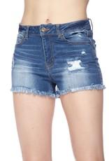Distressed Raw Edge Shorts