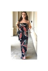 Ayne Paisley Strapless Jumpsuit
