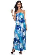 Shades of Blue Tube Dress