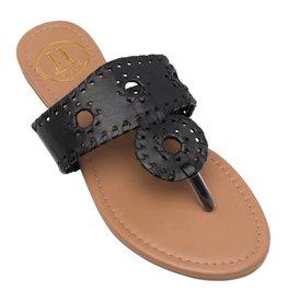Lexi York Black Juliet Sandals