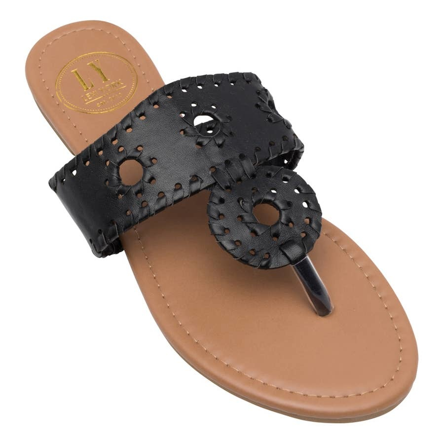 Lexi York Black Juliet Sandals