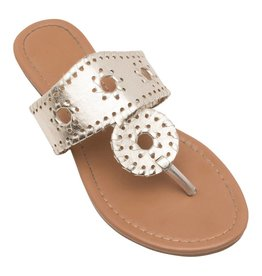 Lexi York Gold Juliet Sandals