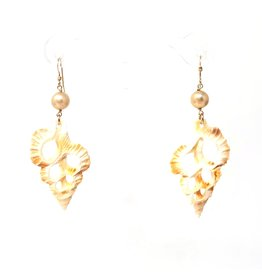 Shell & Champagne Pearl Earrings