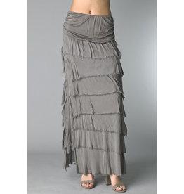 Taupe Flutter Maxi Skirt