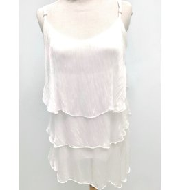 White Silk Layer Tank