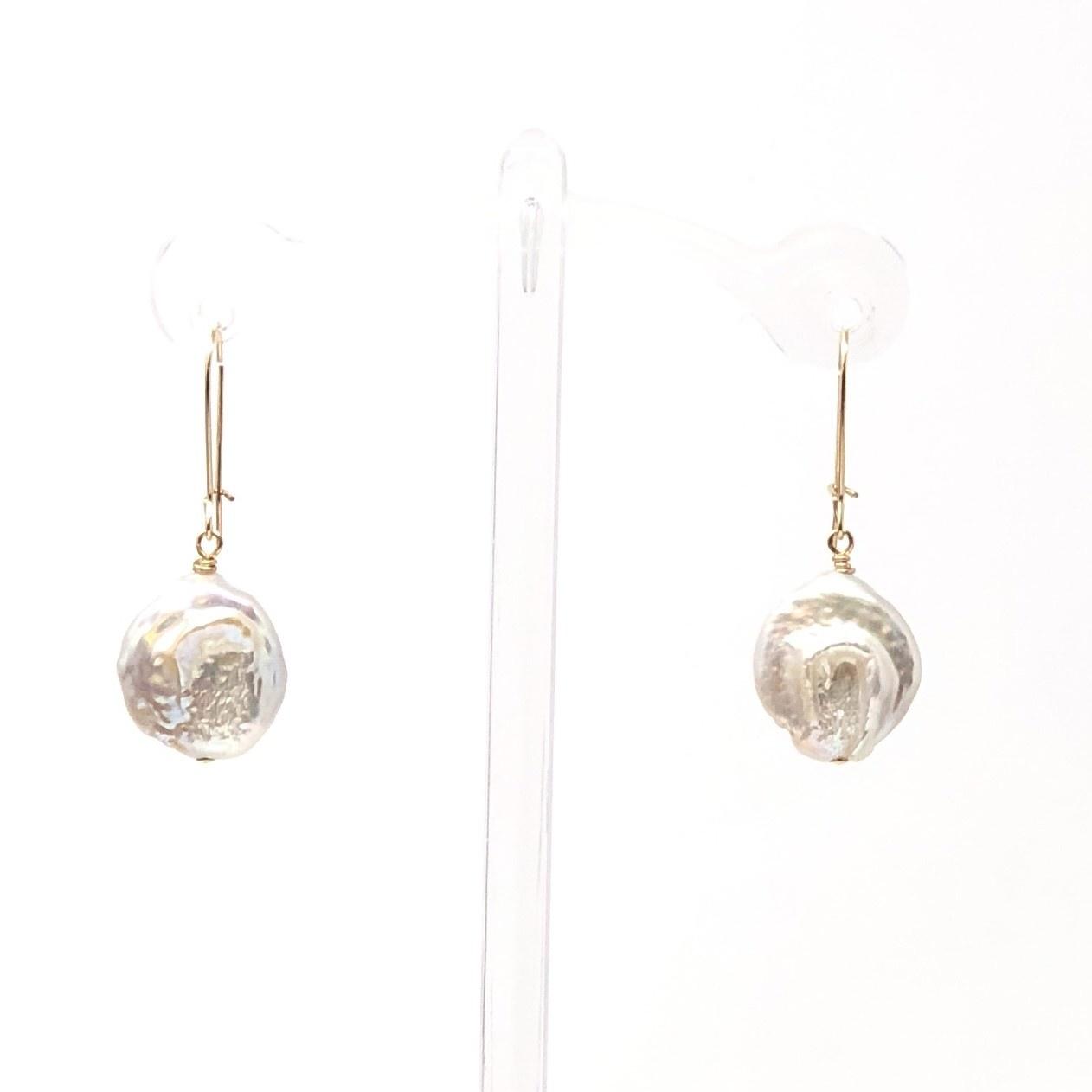 GF Lustre Pearl Kidney Wire Earrings