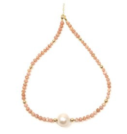 Conch & Baroque Pearl Necklace